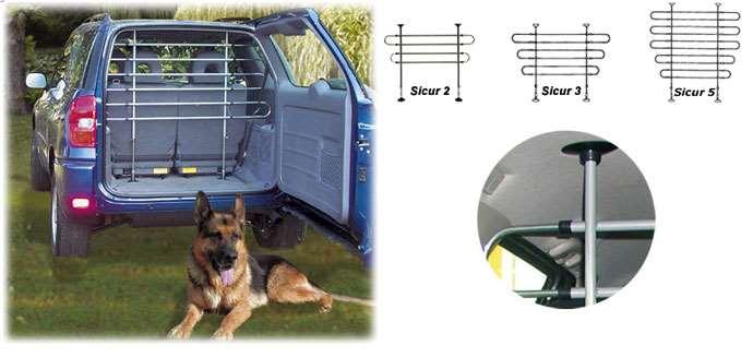 Kleinmetall 10010005 Griglia divisoria universale per cani